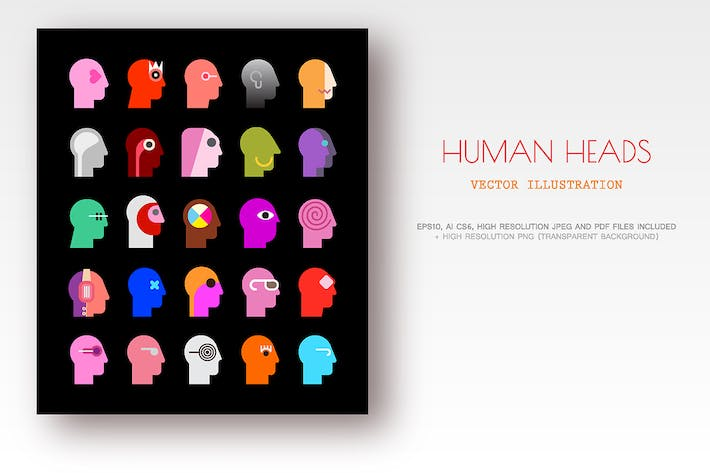 Cover Image For Human Heads