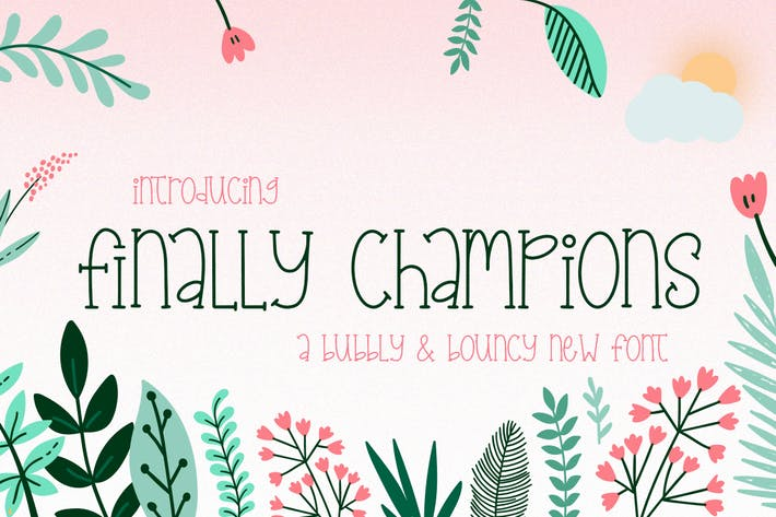 Thumbnail for Finally Champions Font