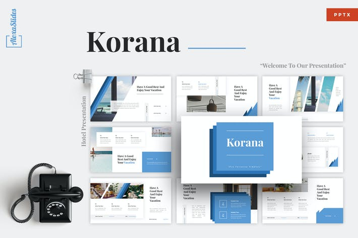 Thumbnail for Korana - Отель Powerpoint Шаблон
