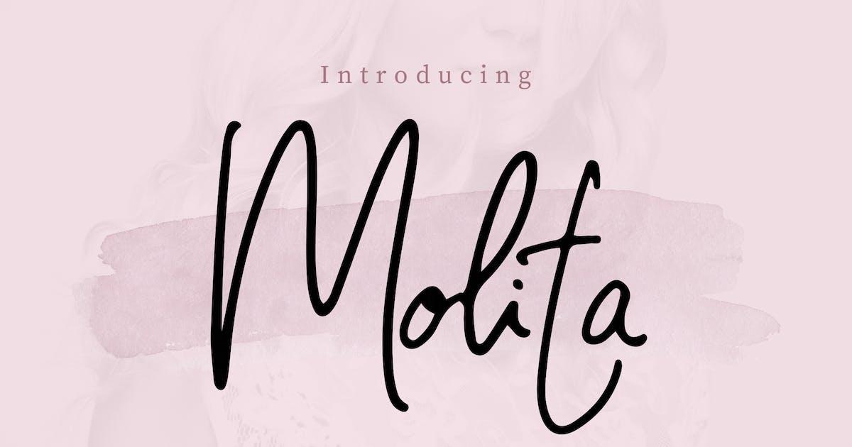 Download Molita Signature Script Font by peterdraw
