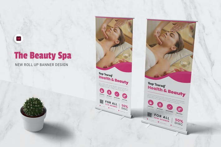 Thumbnail for Beauty Spa Roll Up Banner