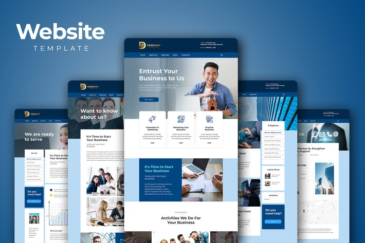Cover Image For Corporate Business Website Templates