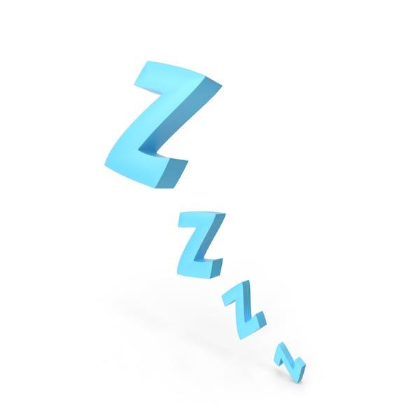 Comic Sleeping Zzzz