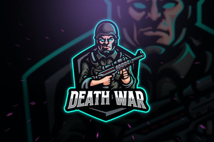 Thumbnail for Death War Army Sport and Esport Logo