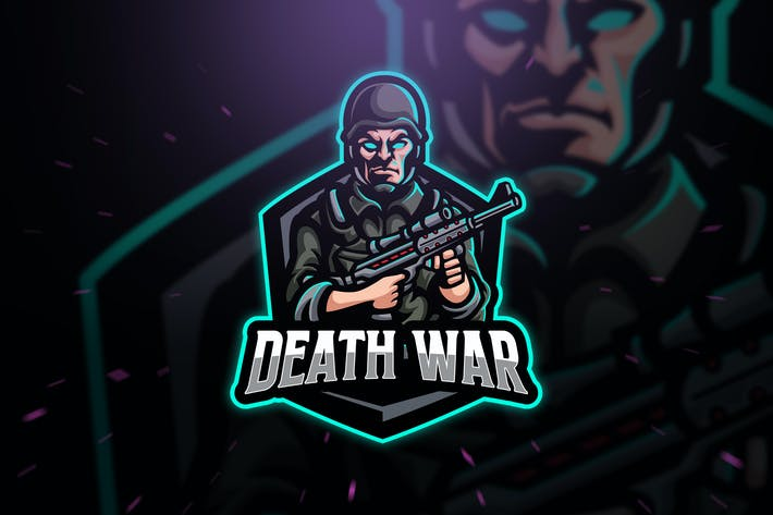 Death War Army Sport and Esport Logo