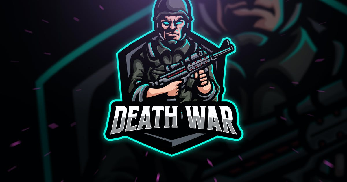 Download Death War Army Sport and Esport Logo by Blankids