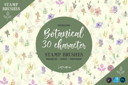 Botanical   Stamp Brushes