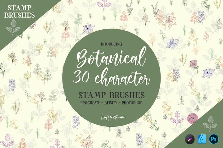 Thumbnail for Botânico | Pincéis de selos