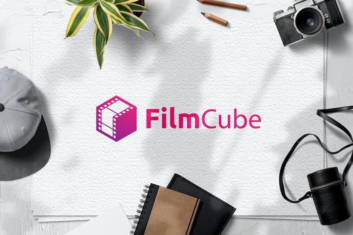 Thumbnail for Film Cube Logo Template