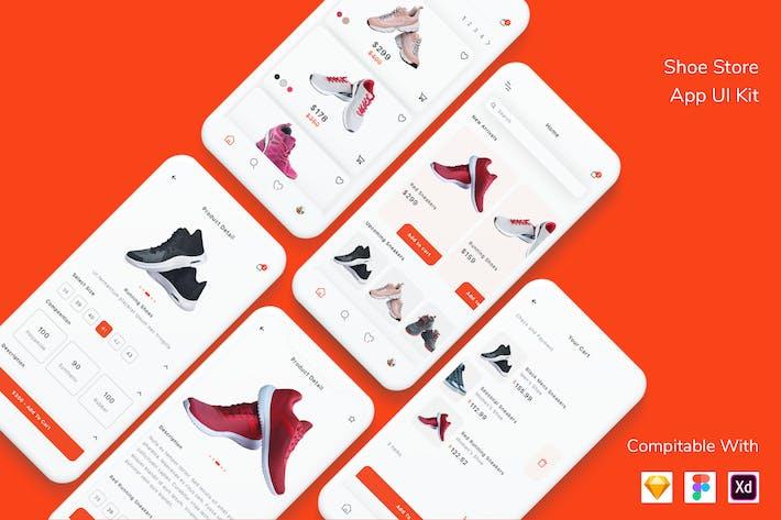 Thumbnail for Shoe Store App UI Kit