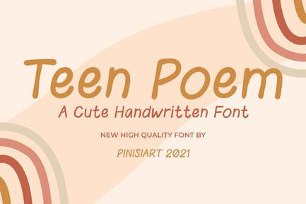 Teen Poem - Cute handwritten font