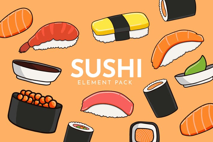 Thumbnail for Sushi Set - Vector