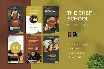 Chef School | Pinterest Post Template