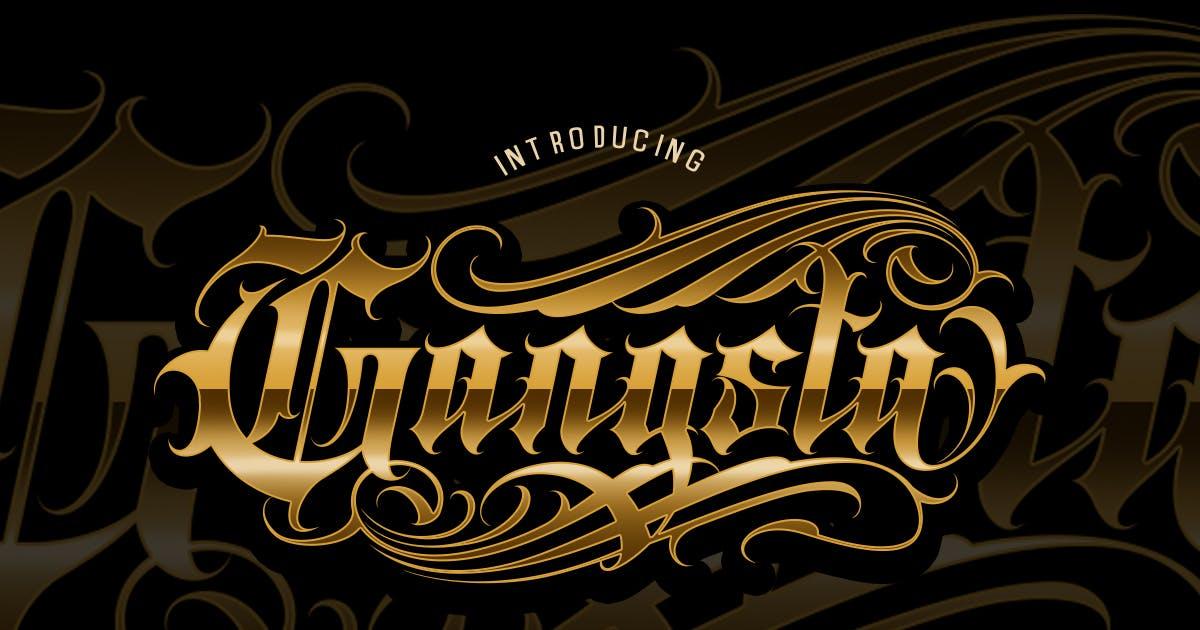 Download Gangsta Typeface | Tattoo Fonts by Muntab_Art
