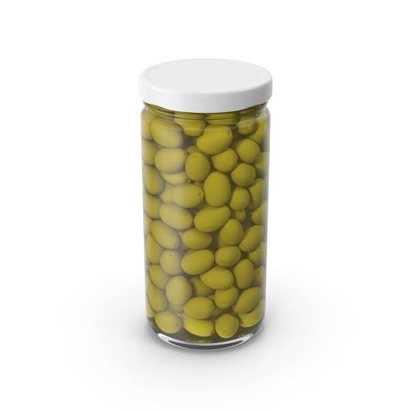 Olives Jar White
