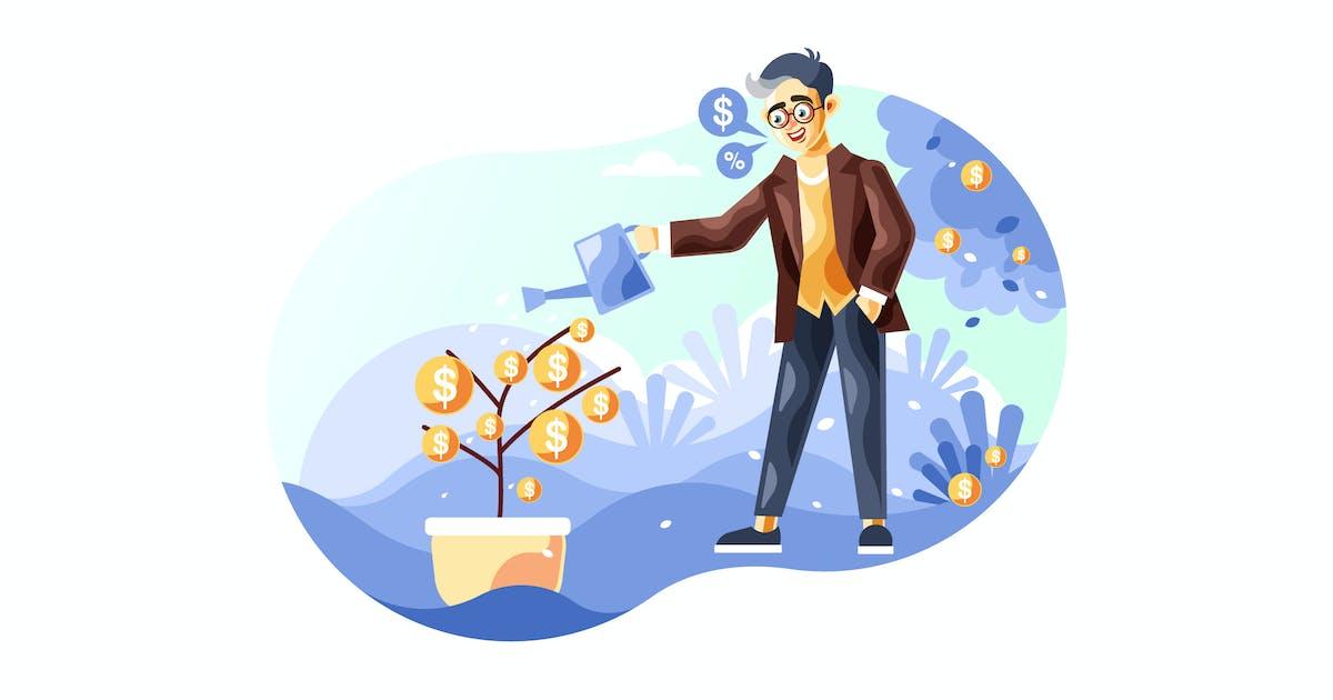 Download Businessman watering a money tree by IanMikraz