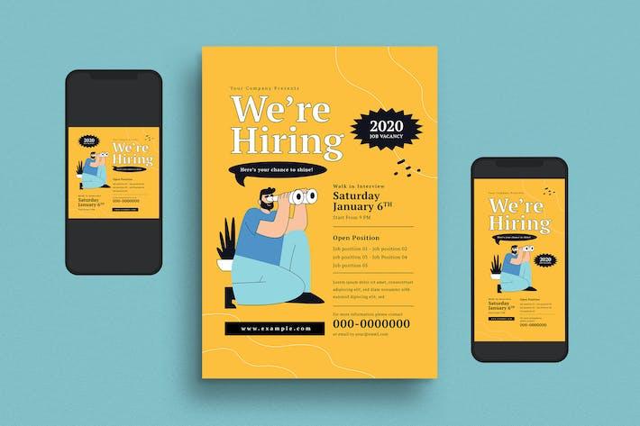 Thumbnail for We're Hiring Flyer Set