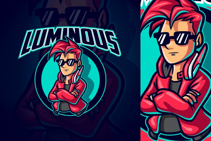 Thumbnail for Gamer Boy - Sports & Esports Mascot Logo