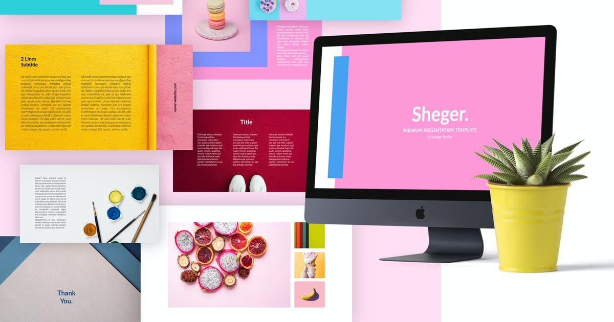 Download SHEGER Presentation Template by inipagi