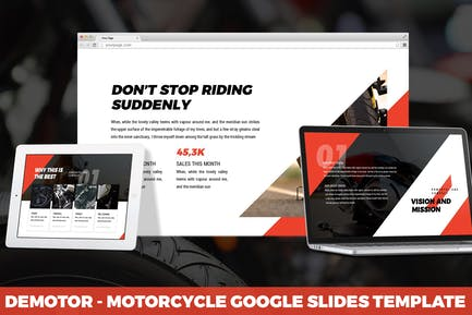 Demotor - Motorcycle Google Slides Template