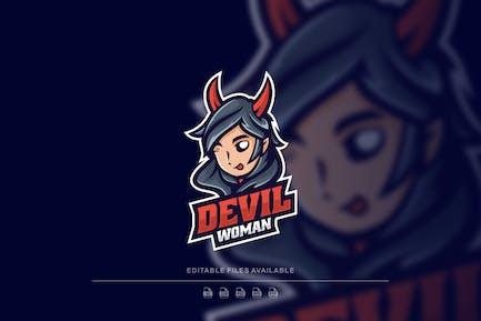 Devil Woman Sport and E Sports Logo
