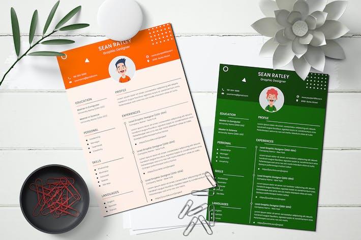 Thumbnail for CV Resume Template