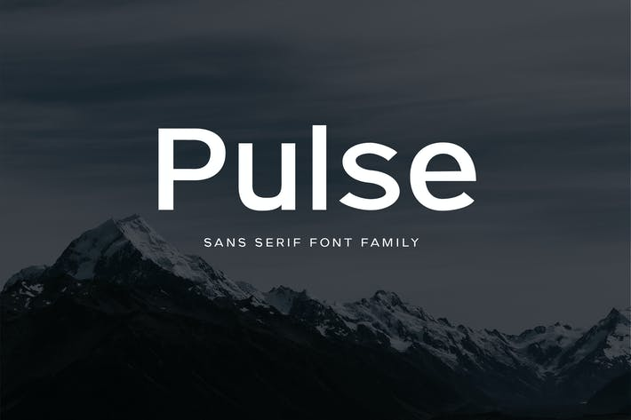 Thumbnail for Pulse - A Modern Sans-Serif Typeface