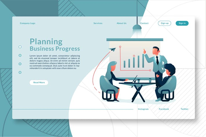 Thumbnail for Planning Business Progress - Landing Page GR