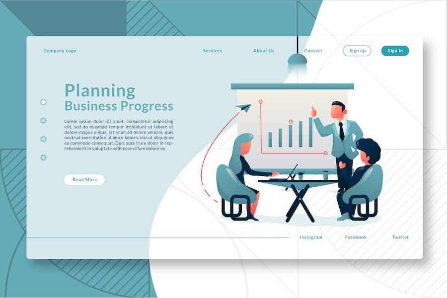 Planning Business Progress - Landing Page GR