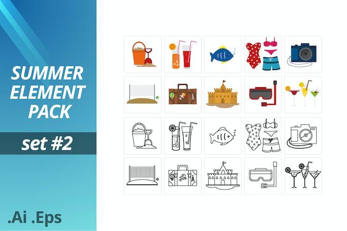 Thumbnail for Summer Element Pack Set #2