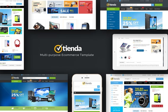 Thumbnail for Tienda - Responsive Technology Magento Thème
