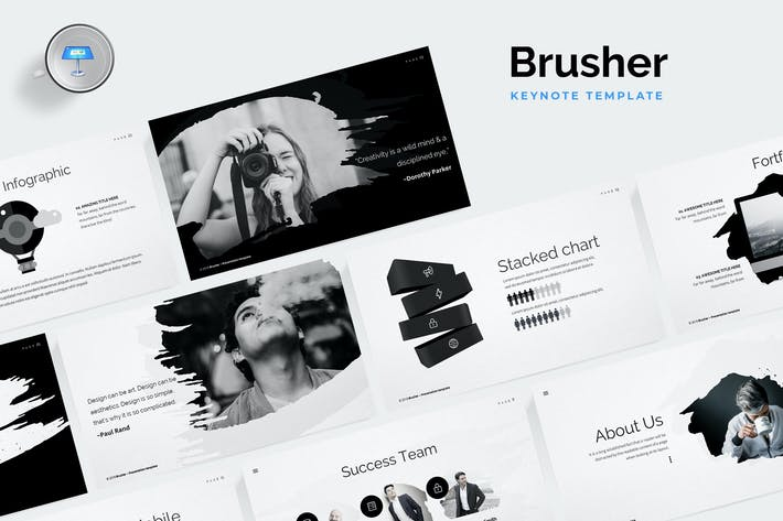 Thumbnail for Brusher Keynote Template