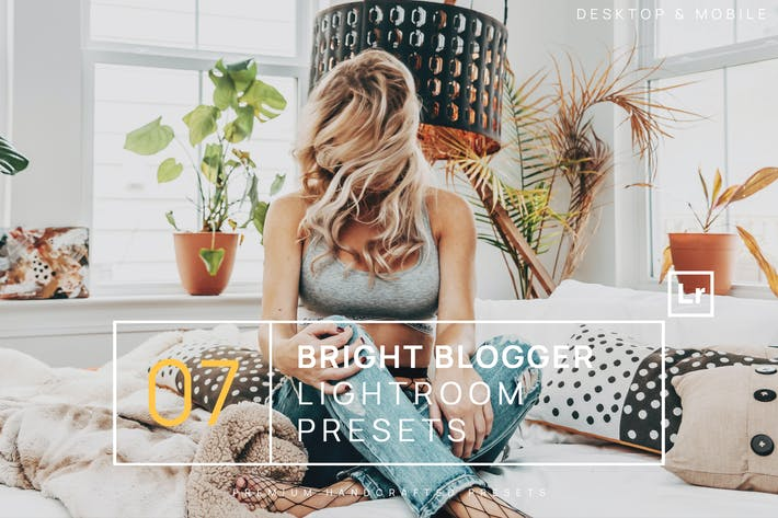 Thumbnail for 7 Bright Blogger Lightroom Presets + Mobile