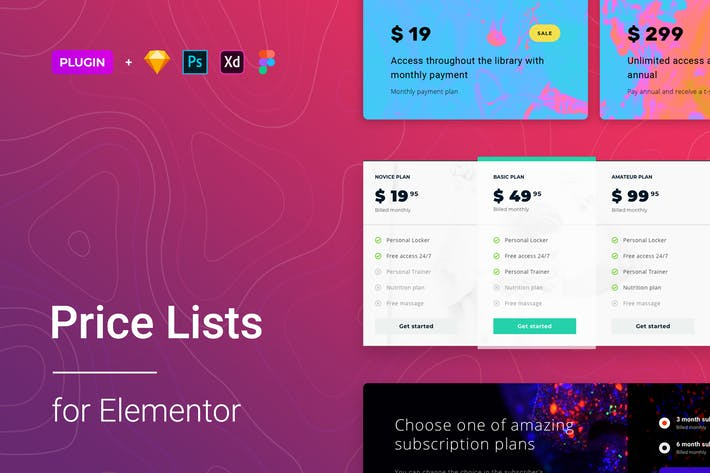 Thumbnail for Price List for Elementor