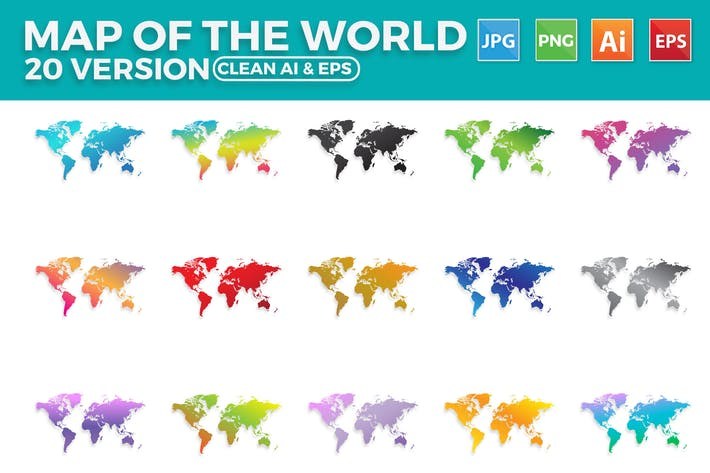 Thumbnail for World Map Vector 20 version