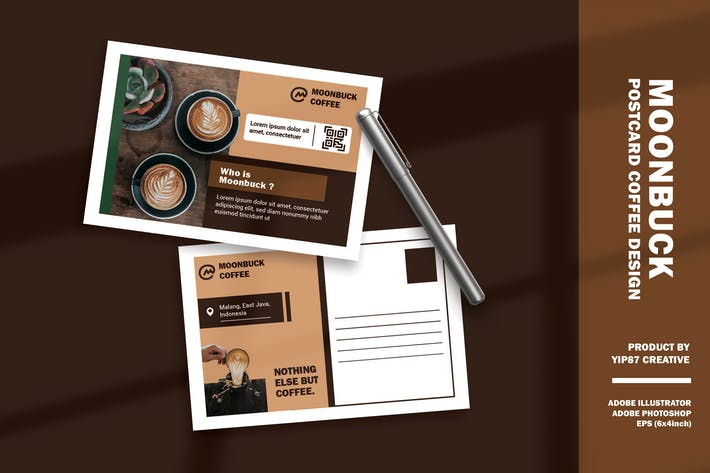 Thumbnail for Cafe Restaurant - Coffee Shop Postcard