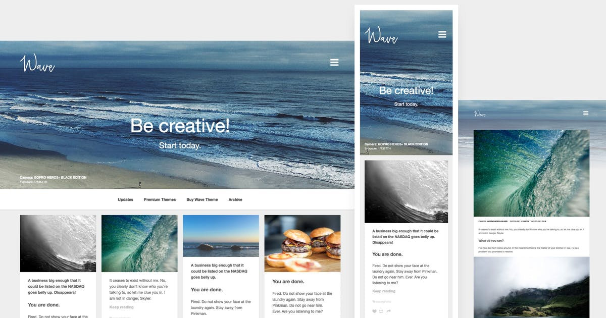 Download Wave | Grid-based, Portfolio Tumblr Theme by roseathemes