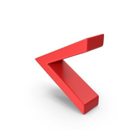 Red Angle Brackets Symbol