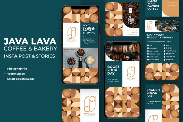 Thumbnail for Java Lava - Coffee Shop Instagram Stories