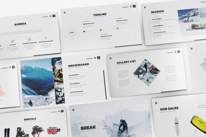 Thumbnail for Snowboard Keynote Template