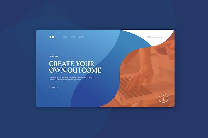 MInimal Shape Landing Page