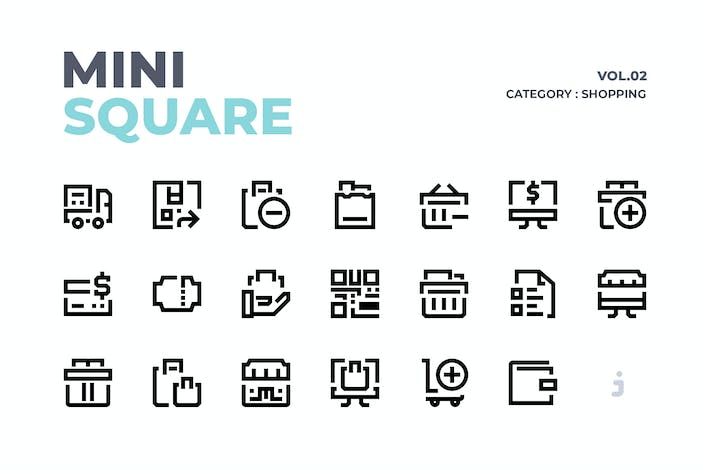 Thumbnail for Mini square - 60  Shopping Icons