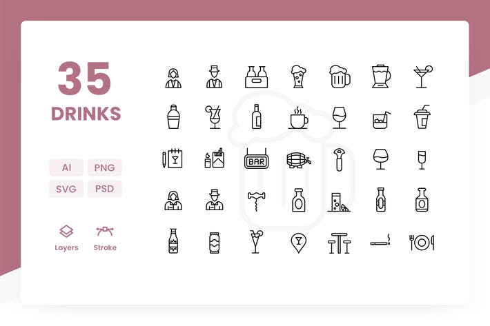 Thumbnail for Drinks - Icons Pack