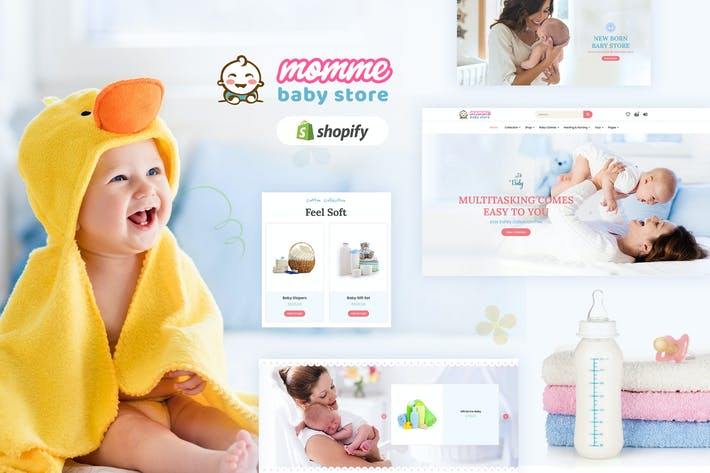 Thumbnail for Momme - Shopify Kids, Baby Shop Tema