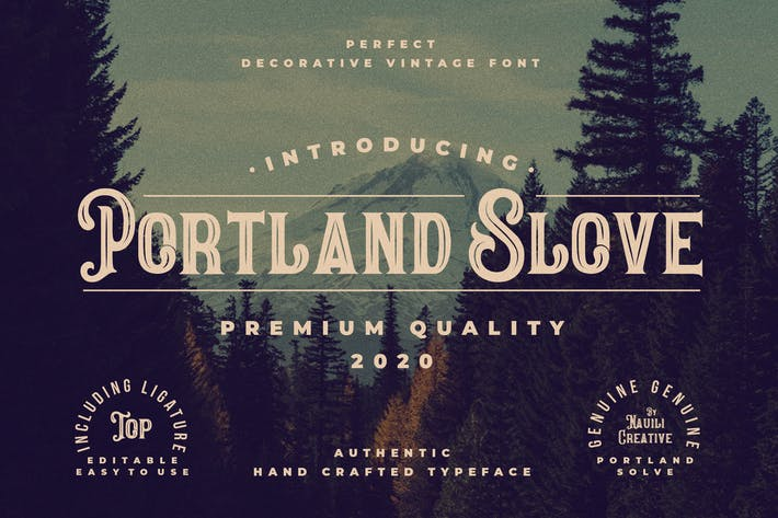 Thumbnail for Portland Slove - Vintage Decorative Font
