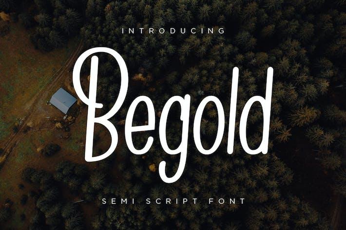 Thumbnail for Begold - Semi Script Font