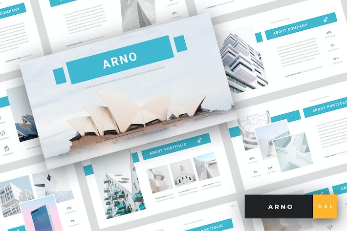 Thumbnail for Arno - Architecture Google Slides Template