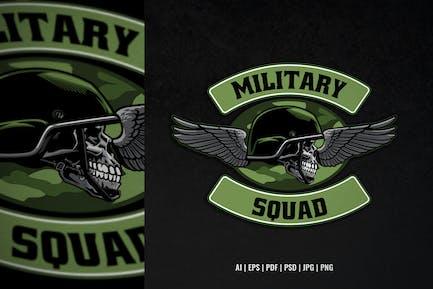 Schädel-Militär-Trupp-Design