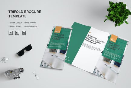 The Best Company - Trifold Brochure