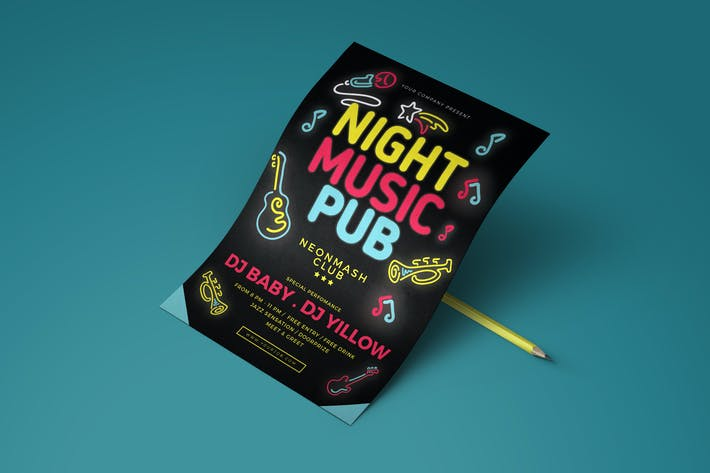 Cover Image For Music Pub Flyer